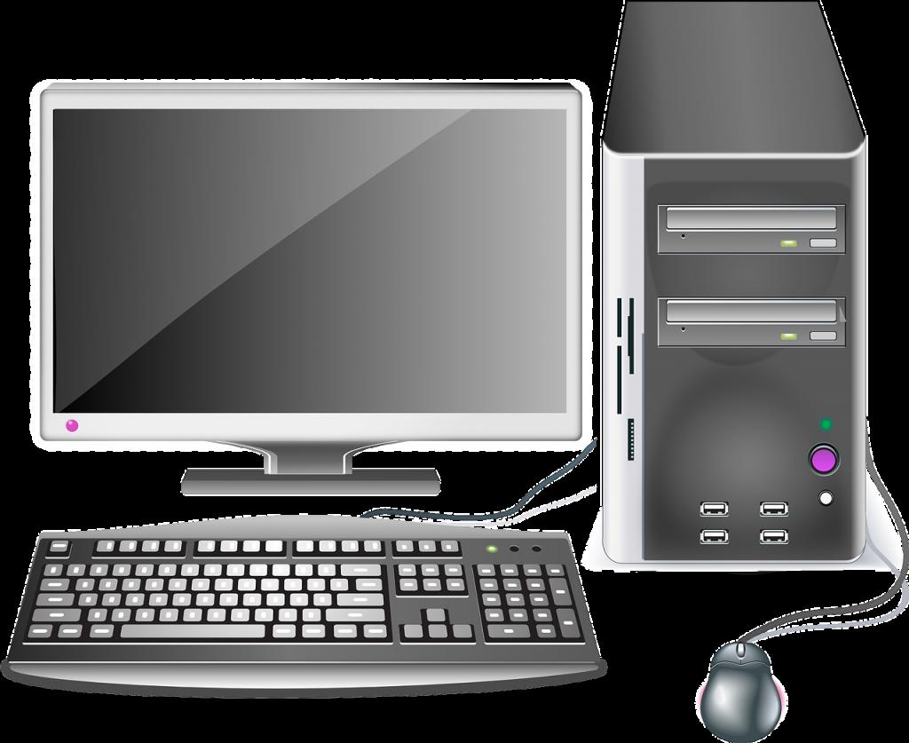ordinateur, bureau, poste de travail