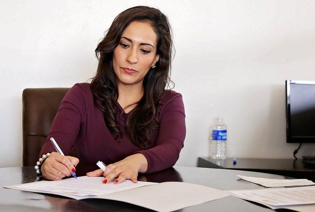 femme, femmes, bureau