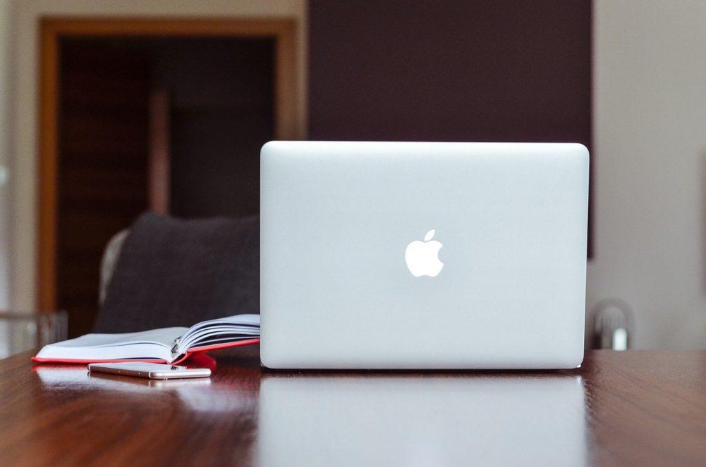 pomme, macbook, carnet