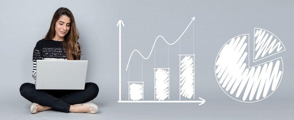 analytique, graphiques, entreprise