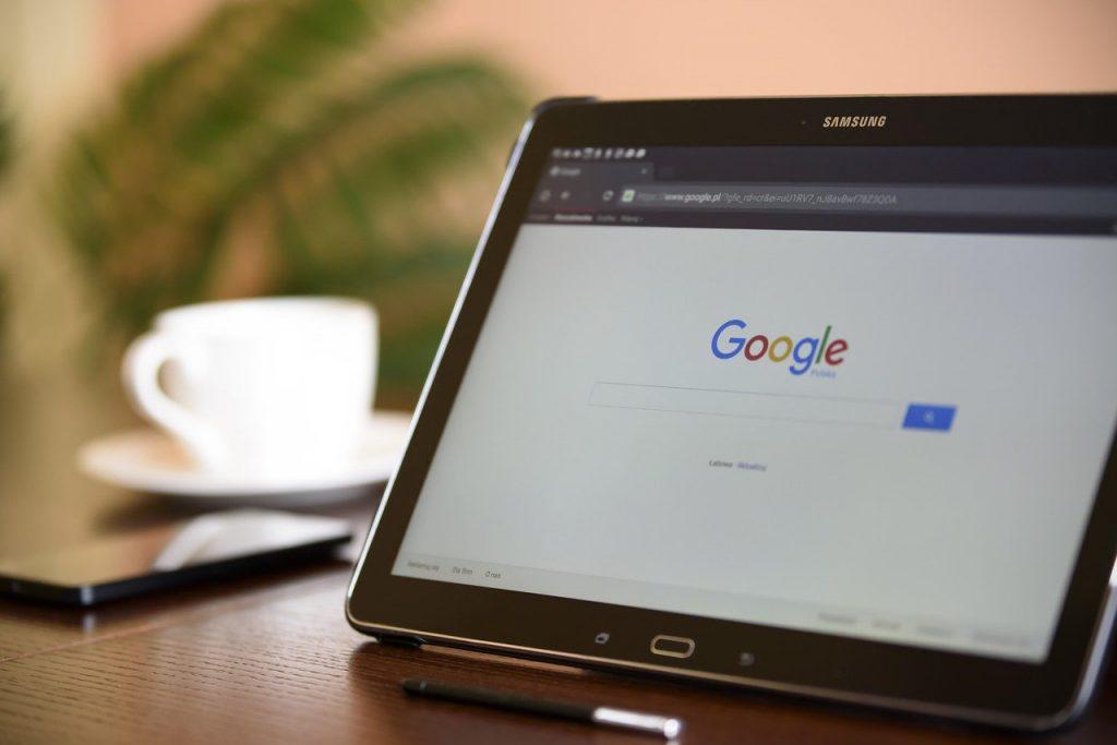 moteur de recherche sur internet, tablette, samsung