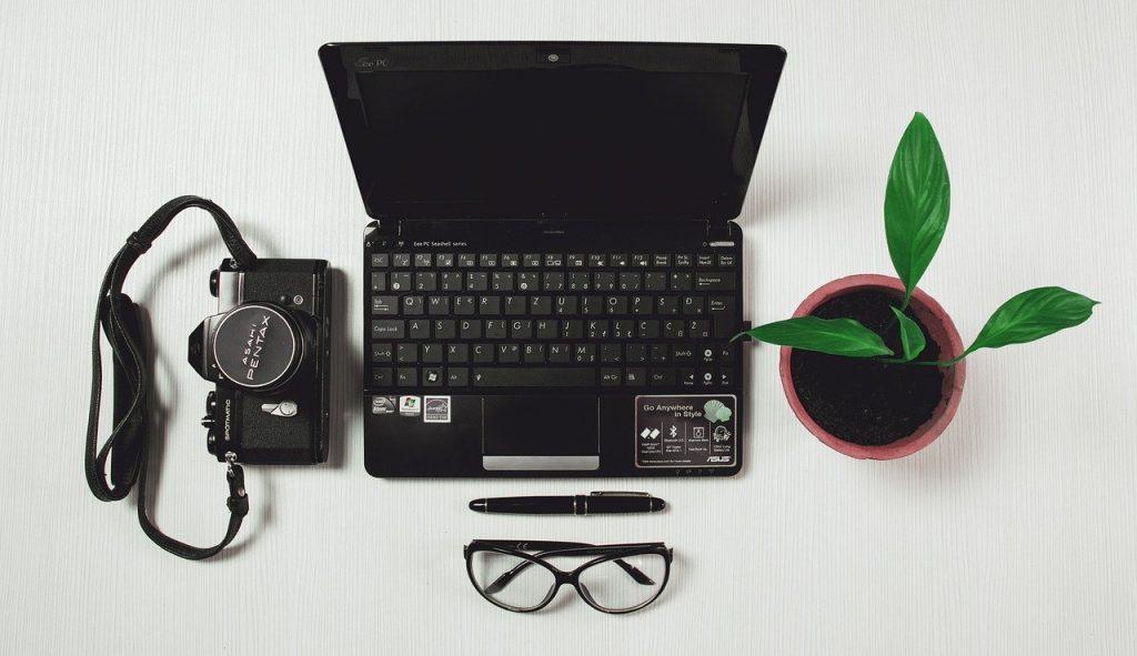 ordinateur, bureau, entreprise