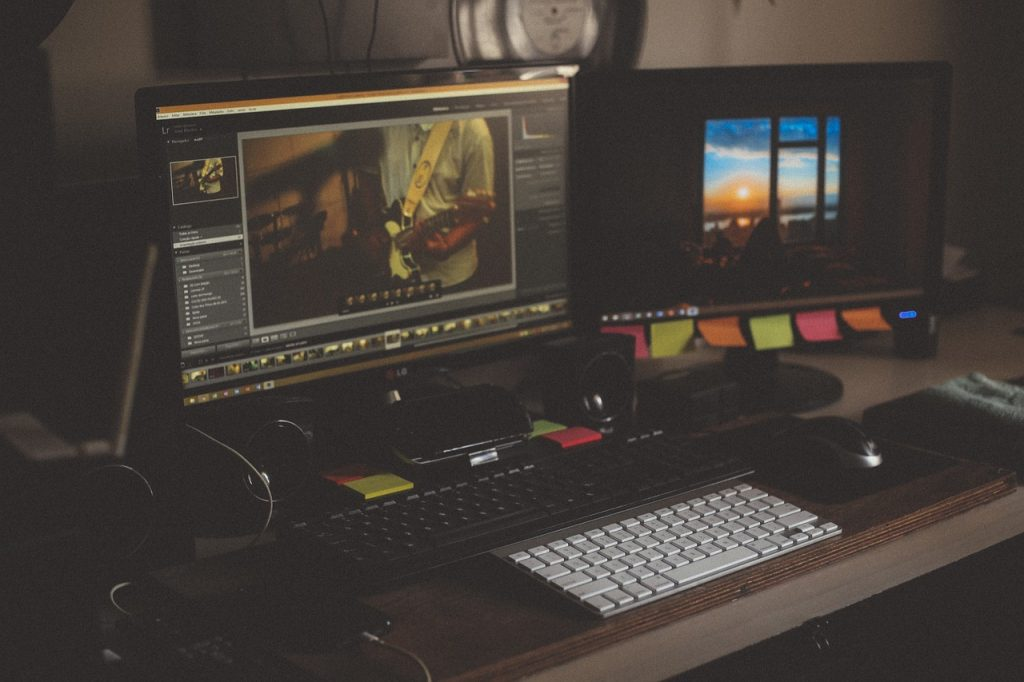 ordinateur, multimédia, studio de son